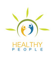 green health people logo vector image vector image