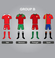group b team jersey vector image vector image
