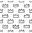 hand drawn crown pattern vector image