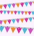 happy birthday card seamless pattern bright vector image vector image