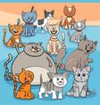 happy cats group cartoon vector image vector image