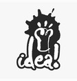 idea in an ink blot vector image vector image