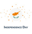 independence day of cyprus patriotic banner vector image vector image