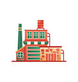 industrial building factory or plant front view vector image