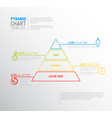Infographic pyramid chart diagram template