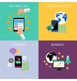 Internet business and payment concept icons vector image