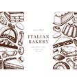 italian desserts pastries cookies menu design vector image vector image