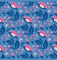 jacobean floral pattern meadow flowers vector image