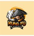kungfu vape logo design vector image