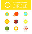 learning shapes circle educational game for kids vector image