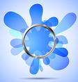 Metal ring over the blue blots vector image