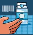 milk box super market products vector image vector image