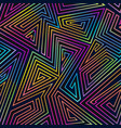 neon lines geometric seamless pattern vector image