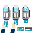 nfc payment pos terminal wireless payment vector image vector image