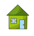 nice house with architecture design icon vector image vector image