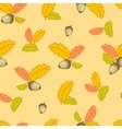 pattern with small oak leaves and acorns-01 vector image