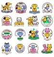 Pet shop badge set vector image vector image