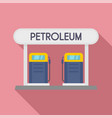 petroleum station icon flat style vector image