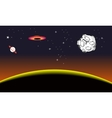 Planet on space vector image vector image
