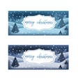 postcard with merry christmas lettering text vector image