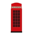 Red Telephone Box Icon vector image vector image