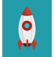rocket startup isolated icon vector image vector image