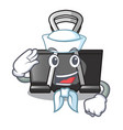 sailor binder clip in the character shape vector image vector image