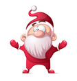 santa claus father winter - cartoon funny cute vector image vector image
