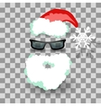Santa costume on transparent vector image vector image