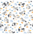 seagull seamless pattern coast sea vector image vector image
