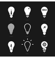 Set bulbs symbol vector image vector image