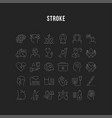 set flat line icons stroke vector image vector image
