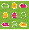 set stickers for easter sale vector image