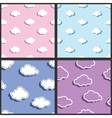 sky textile fabric clouds pattern vector image vector image