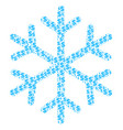 snowflake collage of dollar and dots vector image