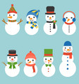 snowman greeting collection vector image