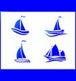 stock icons boat at sea vector image vector image