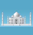 taj mahal mosque vector image