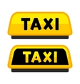 Taxi Car Roof Sign Logo Label Set vector image
