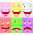 tongue receive flavor vector image vector image