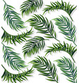 tropic leaves patterm detailed 3d exotic vector image