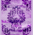vintage damask card background luxury vector image vector image