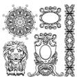 vintage sketch ornamental design element vector image vector image