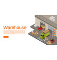 warehouse isometric 3d of vector image vector image