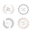wedding floral wreaths circle botanical laurels vector image vector image