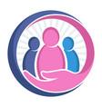 icon logo for charity organization social service vector image