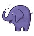 blue elephant vector image