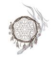 dreamcatcher native american indians talisman vector image