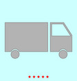 truck it is icon vector image