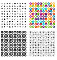 100 charity icons set variant vector image vector image